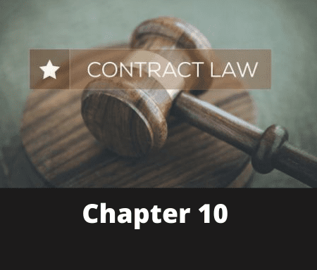 Chapter 10 – The Law of Contract