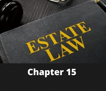 Chapter 15 – Introduction to Mortgage Law