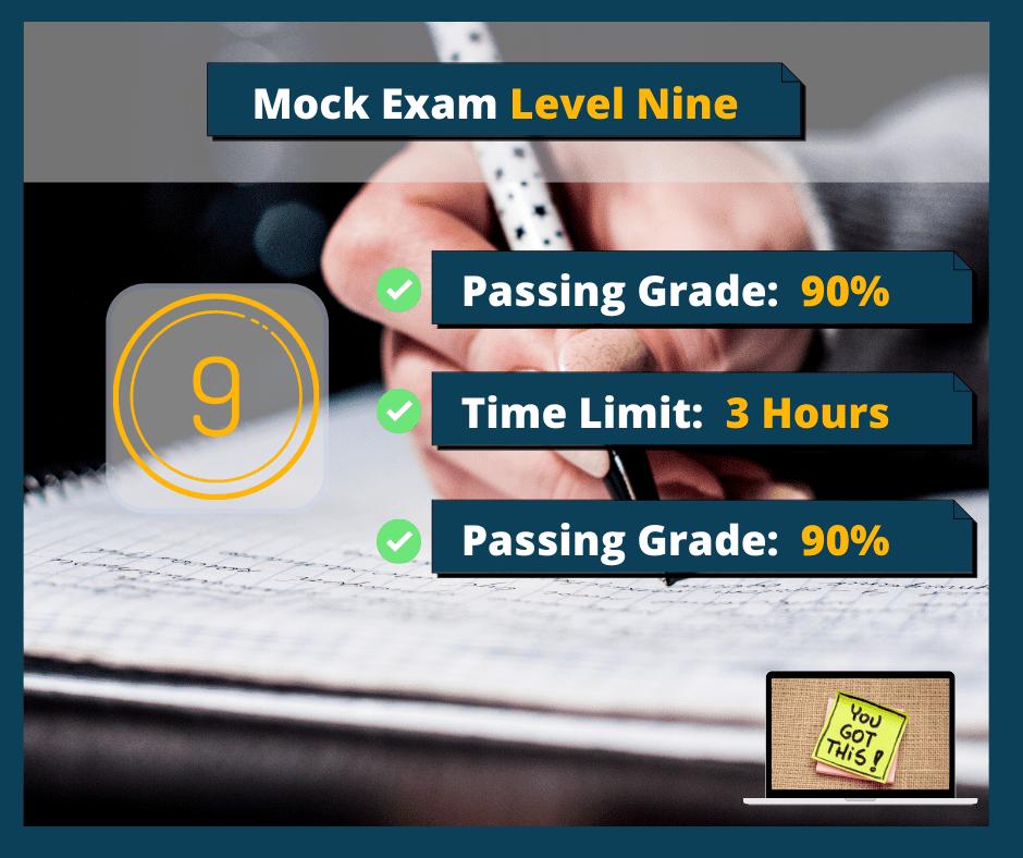 Mock Exam Level Nine