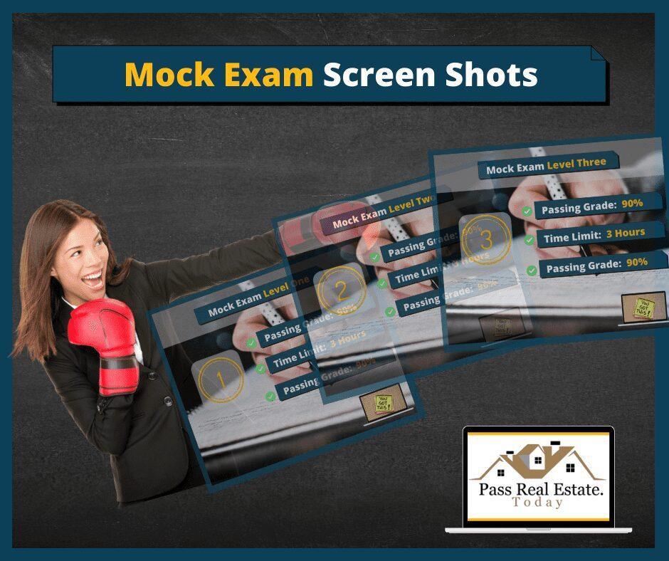 Mock Exam Screen Shots